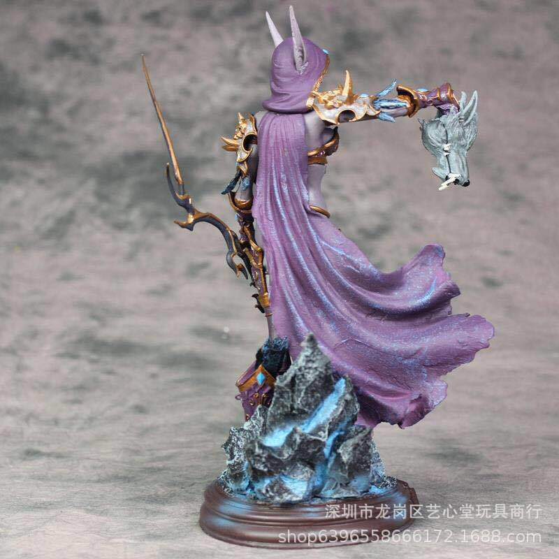 Anime Peripheral World Of Warcraft Sylvanas Ghost Queen Statue Garage Kit Model Ornaments