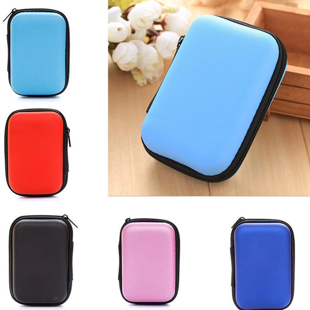 Earphone Holder Case Storage Carrying Hard Bag Box USB Case Earbuds Cable Headphone Accessories For Earphone Memory Card Y7N5
