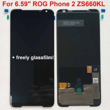 """Original New For 6.59"""" ASUS ROG Phone 2 Phone2 PhoneⅡ ZS660KL AMOLED LCD Display Screen+Touch Panel Digitizer Assembly Repairs"""