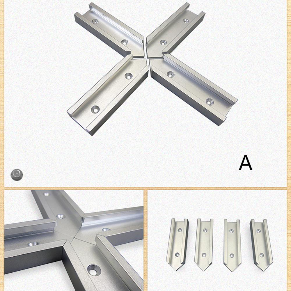 New 30 Type <font><b>T</b></font>-<font><b>Track</b></font> <font><b>Aluminum</b></font> Slot Miter <font><b>Track</b></font> Jig Fixture Intersection Chute Cross connecting Rod Flip Table Woodworking Tool image