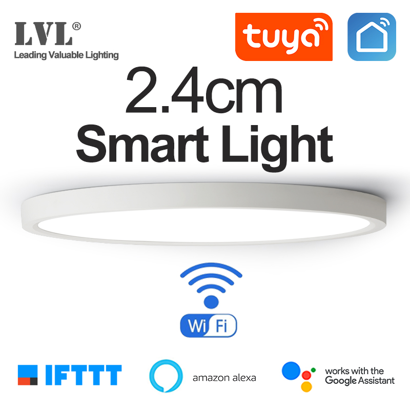 LED Smart Panel Light WiFi App Voice Control Work With Google Home Alexa Echo IFTTT Ultrathin Surface Mounting LED Panel