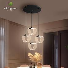 Przyloty nowoczesne lampy sufitowe LED do salonu sypialnia jadalnia oprawy lampy sufitowe oprawy tanie tanio Fantasy Island Grawerowane Przewód wisiorek Wisiorek światła 1 year Akryl Metrów 3-5square WHITE Black Dotykowy włącznik wyłącznik