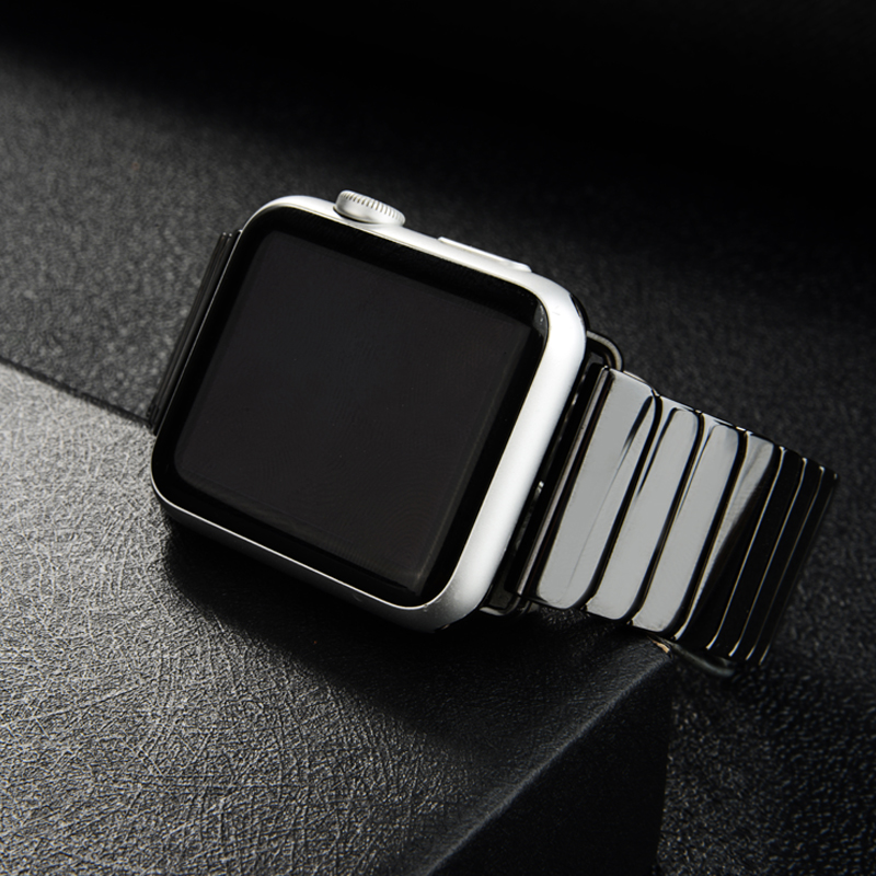 Ceramic Strap For Apple Watch Band 44 Mm 40mm Iwatch Band 42mm 38mm Luxury Stainless Steel Buckle Bracelet Apple Watch 4 5 3 2 1