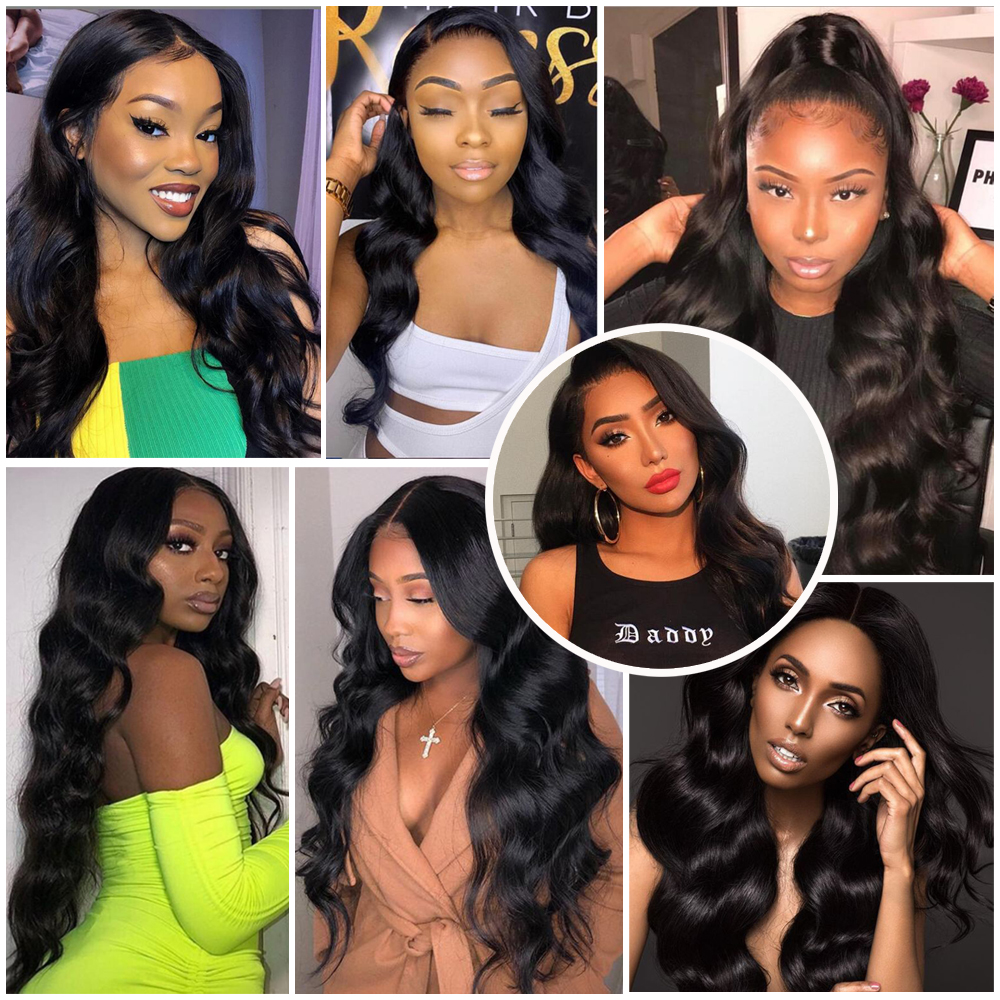 Luxediva Body Wave Bundles With Closure Brazilian Hair Bundles With 4x4 Lace Closure 30 Inch Bundles Remy Human Hair Extensions