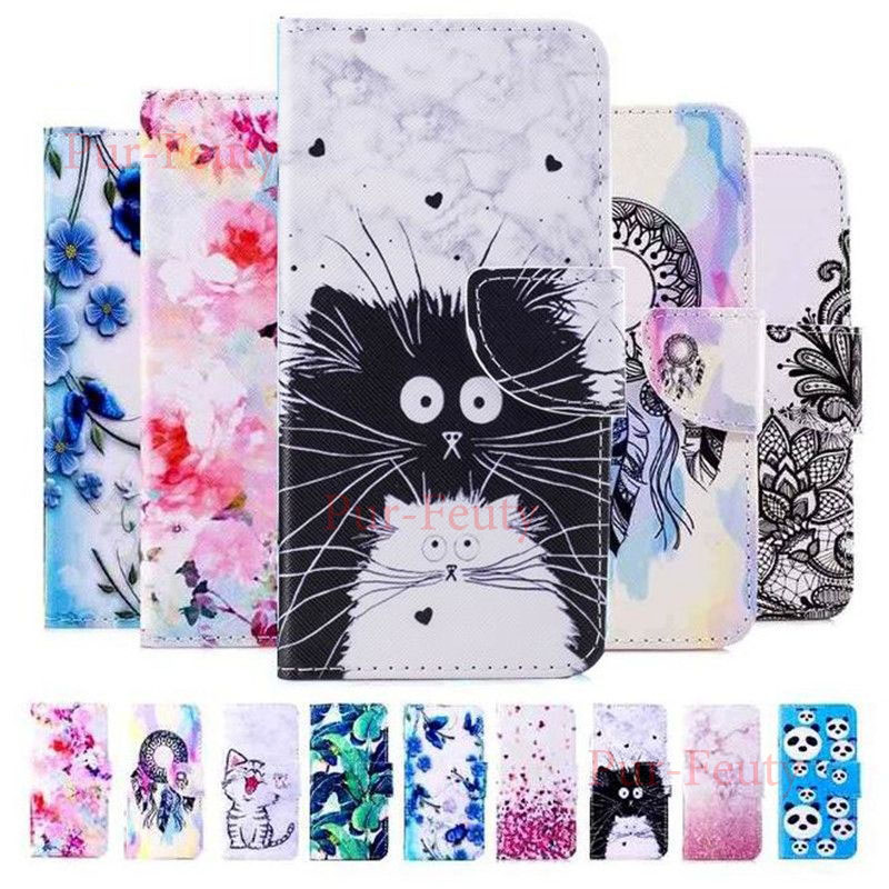 Case For Huawei Y7 2019 DUB LX1 LX2 L22 Cute Flip Wallet Book Style 3D Vision Leather Magnetic Cover For Huawei Y7 2019 Y 7 2019 image