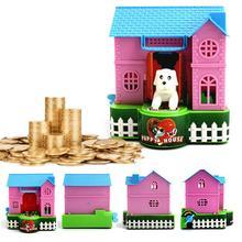 1 шт. забавная Милая пластиковая Копилка, собачья копилка, деньги, коллекционный подарок для дома, Ornamnet, товары для дома, наклейка для дома, подарки, домашний декор