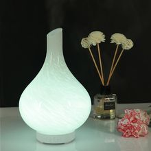 Colorful glass Vase Air Humidifier Aroma Purifier With 7 Color LED Lights Electric Aromatherapy Essential Oil Diffuser