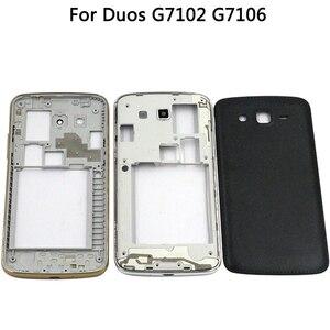 Image 2 - 삼성 갤럭시 그랜드 2 II 듀오 G7102 G7106 하우징 미들 프레임 배터리 백 커버 + 터치 스크린 디지타이저 패널