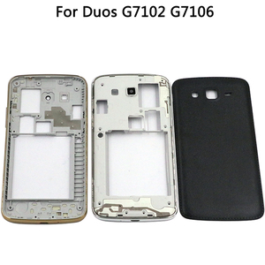 Image 2 - For Samsung Galaxy Grand 2 II Duos G7102 G7106 Housing Middle frame Battery Back Cover+Touch Screen Digitizer Panel