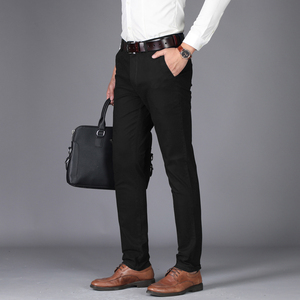 Image 4 - NIGRITY 2020 Autumn Mens Casual Pants High Quality Classics Fashion Male Cotton Trousers Business Formal Mens Office Long Pants