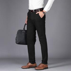 Image 4 - Nigrity 2020 Herfst Heren Casual Broek Hoge Kwaliteit Klassiekers Mode Mannelijk Katoenen Broek Zakelijke Formele Kantoor Lange Broek