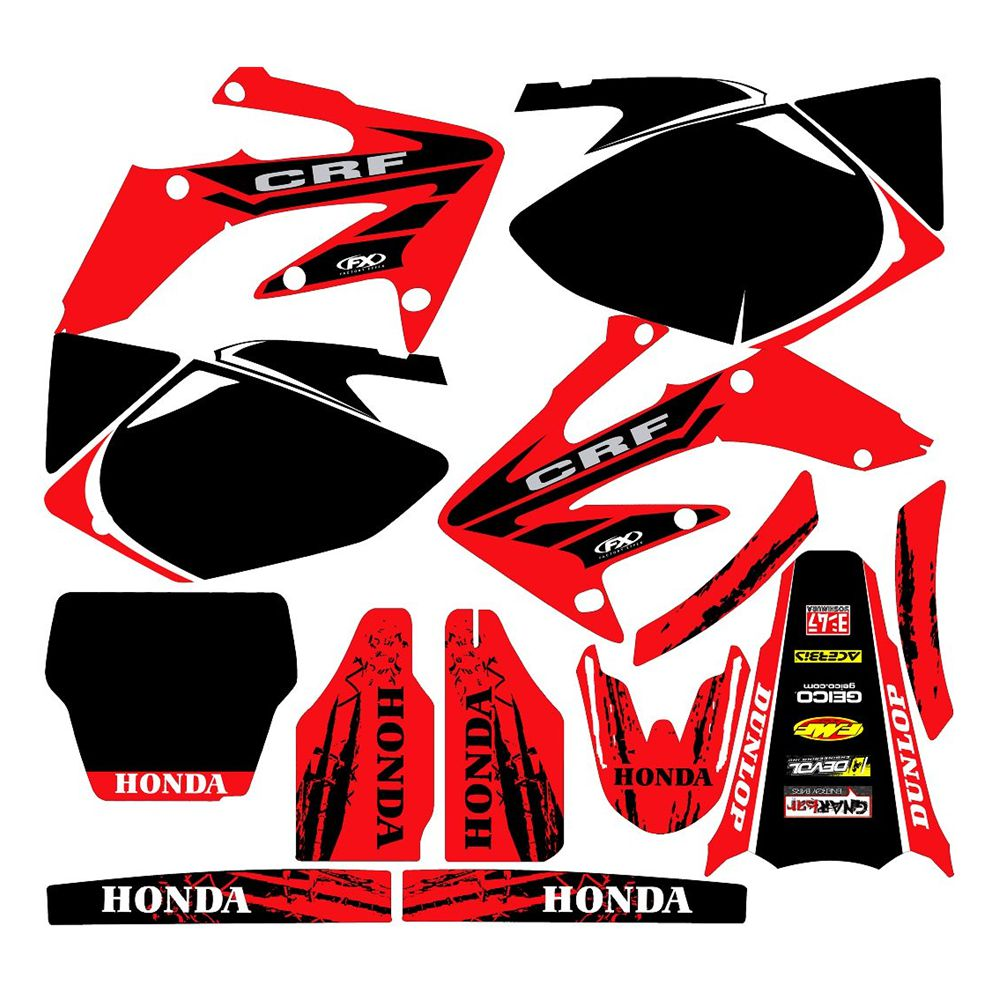 FOR HONDA CRf 250R 2004-2005 New Full Graphics Decals Stickers Custom Number Name 3M Bright Stickers Waterproof