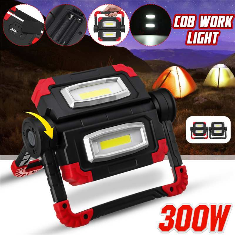 Led Portable Spotlight COB Led Work Light Rechargeable USB Battery Outdoor Light For Hunting Camping Led Latern Flashlight