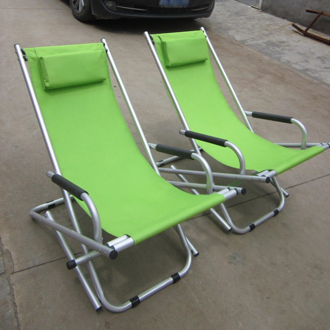 Manufacturers Direct Selling Aluminium Alloy Outdoor Folding Rocking Chair Casual Recliner