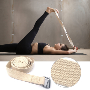 10ft Yoga Stretching Strap Cotton Exercise Strap Physical Therapy Strap Fitness Equipment with Metal Ring Yoga Strap Cotton