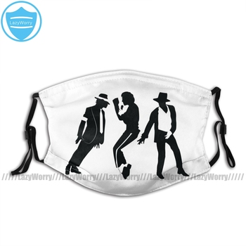 Michael Jackson Billie Jean Mouth Face Mask Michael Jackson Facial Mask Fashion Lovely with 2 Filters Mask michael jackson michael jackson history continues limited picture disc 2 lp