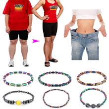 Anklet Bracelet Jewelry Magnet Weight-Loss-Product Body Slim Stone Hematite Colorful