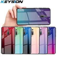 KEYSION Gradient Tempered Glass Case for Xiaomi Mi 9T Pro 9 SE A3 CC9e Phone Back Cover Redmi Note 8 7 7S 7A K20