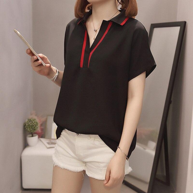 Plus Size Women Chiffon Shirts  3