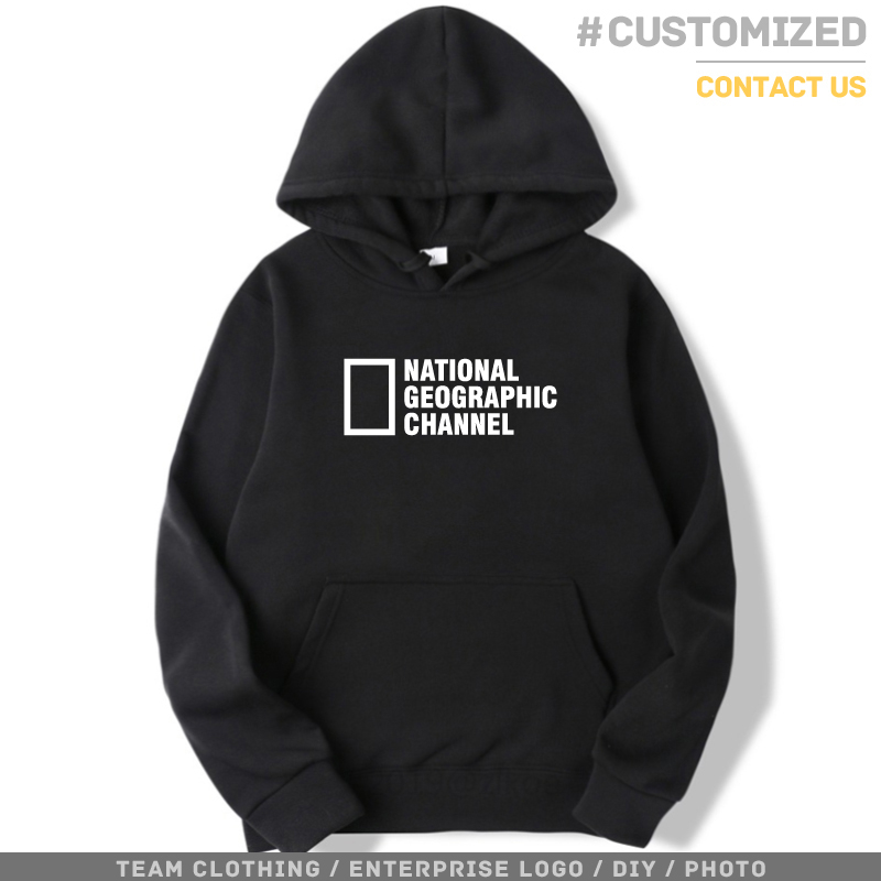 NATIONAL GEOGRAPHIC CHANNEL Hoodies Print Men Women Winter Warm Pullovers Streetwear Female Comfortable Harajuku Hoodie Hip Hop