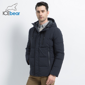 Image 3 - ICEbear 2019 new winter  fashion brand parkas mens jacket simple fashion hooded coat knit cuff design males jackets MWD18926D