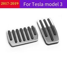 Металлическая ножная педаль для автомобиля для Tesla модель 3 Авто педаль акселератора тормоз педаль для отдыха