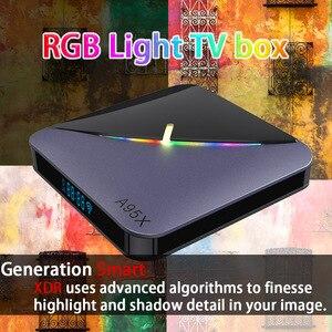 Image 2 - A95X F3 Android 9.0 Transpeed 8K procesor Amlogic S905X3 TV, pudełko 4K Youtube wifi 4GB 16GB 32GB 64GB światło RGB TV, pudełko