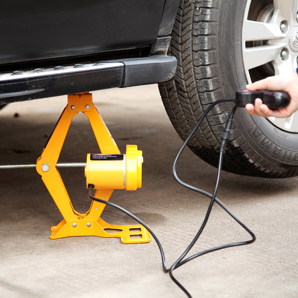 12V Waterproof Electric Scissor-type Jack Car Electric Jacks Vehicle Electric Tire Remover Equipment Auto Repair Accessory
