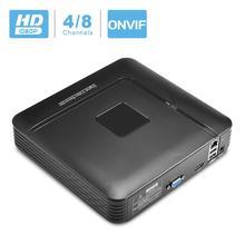 Besder мини NVR Full HD 1080P рекордер 4 канала 8 каналов безопасности CCTV NVR 1080P 4CH 8CH ONVIF 2,0 для ip-камеры системы 1080P