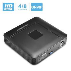 Besder mini nvr completo hd 1080 p gravador de 4 canais 8 canais segurança cctv nvr 1080 p 4ch 8ch onvif 2.0 para o sistema de câmera ip 1080 p