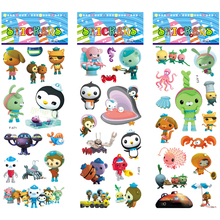 6 Sheets/set 3D Bubble Stickers For Portable Luggage Skateboard Cartoon Anime Toys Octonauts