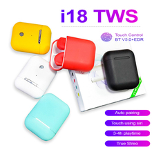 I18 TWS Wireless Earphones Bluetooth Earphone Earbuds Touch Control Android Ios