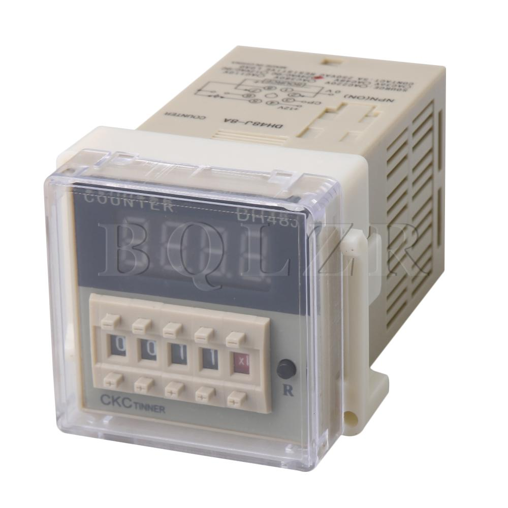 BQLZR DH48J-8A Time Delay <font><b>Relay</b></font> 8-Pin <font><b>24VAC</b></font>/DC Sensor Digital Counter 0-999900 image