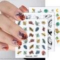 Стикеры 3D на ногти Nail Art сексуальная девушка уход за кожей лица изображения самоклеющиеся переводные наклейки с изображением абстрактных л...
