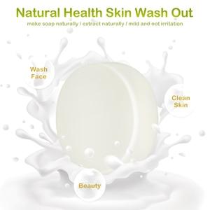 50g Körper Reinigung Seife Öl-gesteuert Weiche Nähren Ziegen Milch Entfernen Milben Seife Hautpflege Gesicht Waschen grundlage Seife Hautpflege TSLM1