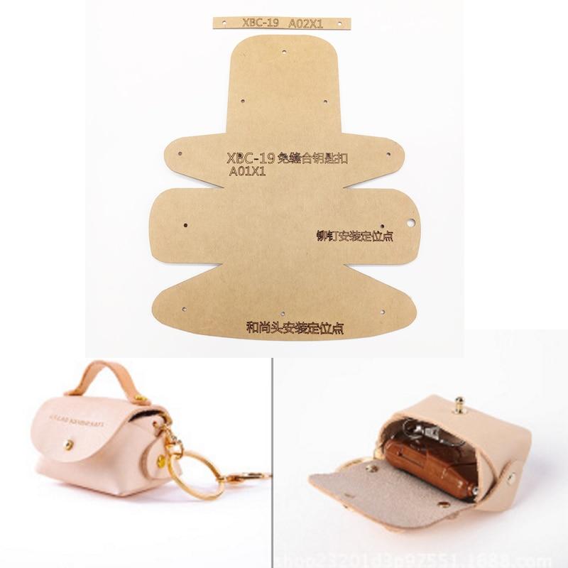 1set Leather Craft Women Fashion Handbag Sewing Pattern Hard Kraft Paper Stencil Template DIY Craft Supplies 60x70mm