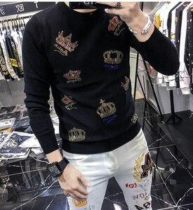 Мужские вязаные свитера 2020 осень зима новый пуловер мужской повседневный джемпер с круглым вырезом мужской пуловер