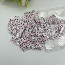 20g Pink love mixing Snow  for Resin DIY Supplies Nails Art Polymer Clear Clay accessories DIY Sequins scrapbook shakes Craft