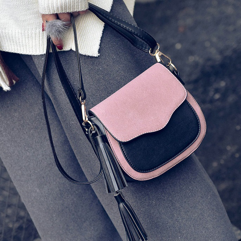 New Trend Women Handbags, Retro Simple Flap, Fashion Shoulder Bag, Tassel Ornaments Woman Messenger Bag