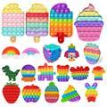 Regenbogen Zappeln Push-Pops Blase Sensorischen Squishy Stressabbau Autismus Bedürfnisse Anti-stress Pop Es Erwachsene Kinder Spielzeug