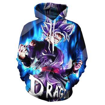 Fall Winter Men's Hoodie Dragon Ball Z Strong Goku 3d Pullover Cool Boy Girl Sports Harajuku Hooded Sweatshirt Plus Size