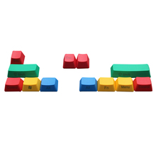 10 stücke RGBY Farbe Abdeckung ALT SHIFT ESC Gaming Ersatz OEM Profil Dekorative PBT Keycap Set Dicke Haltbare Mechanische Tastatur