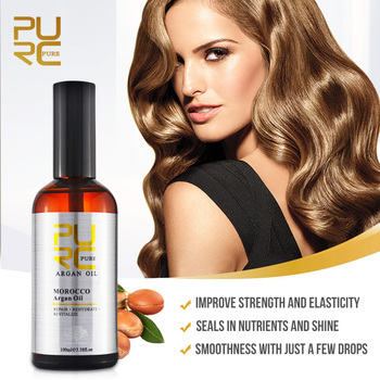 PURC 100ml Morocco Argan Oil Hair Care Smoothing Soft Damaged Repair Essentials Hair & Scalp Treatments Products for Women 2