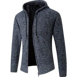 Cardigan à capuche pour homme, col en molleton, manteau chaud pour hommes, veste à capuche épais, solide, manteau pour hommes, collection 2020