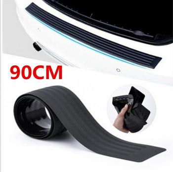 Rear Bumper Protector Guard Universal Black Rubber Scratch-Resistant Trunk Door Entry Guards Accessory Trim Protector for Cars image