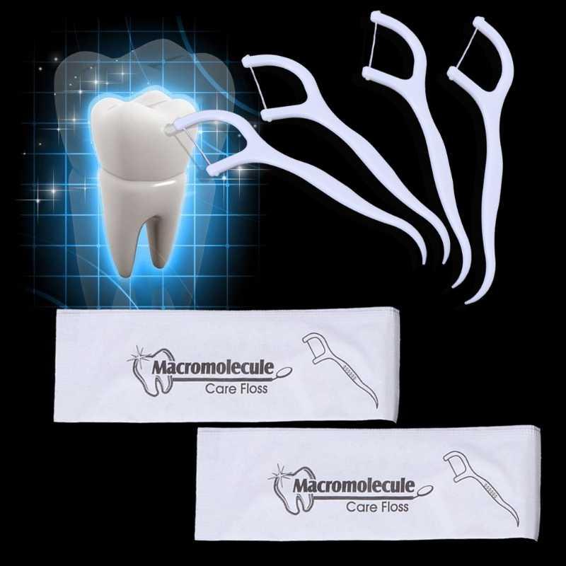 1 sztuk nić dentystyczna wykałaczka szczoteczka międzyzębowa do czyszczenia wykałaczka Flosser 7.5X1.5CM T4MB