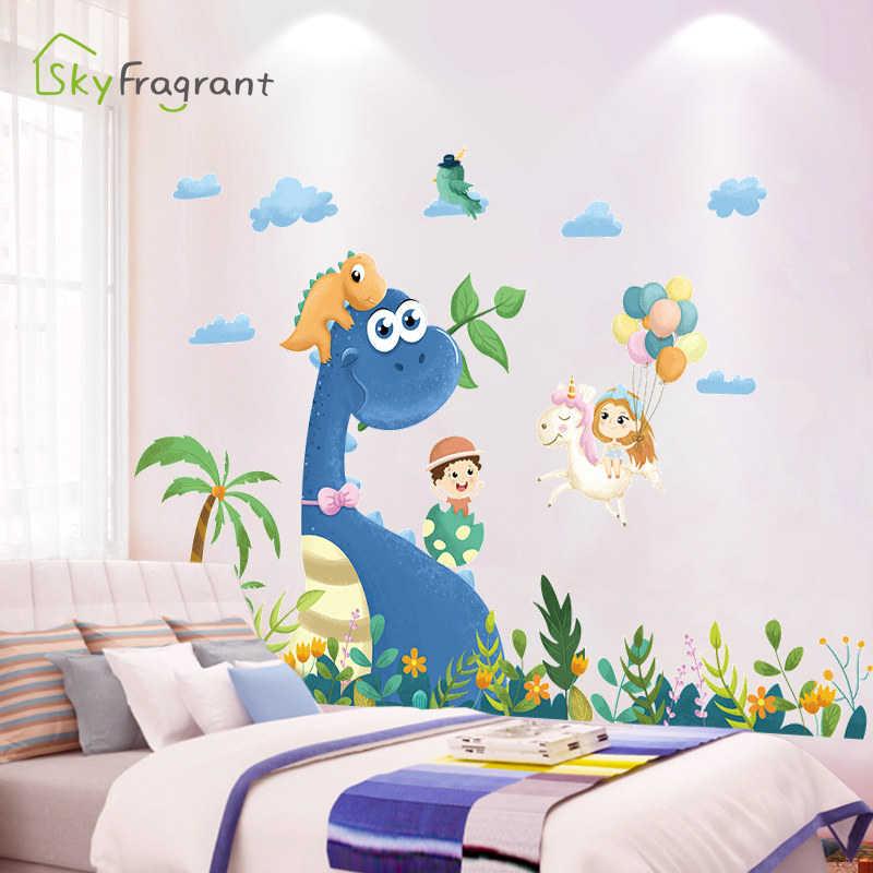 Creative Cartoon Dinosaur Wall Stickers Boys Room Decoration Self Adhesive Bedroom Wall Decor Home Decor Stickers For Kids Rooms Wall Stickers Aliexpress