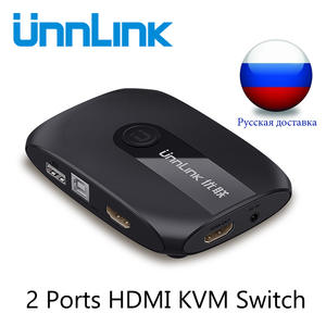 Unnlink 2 Ports HDMI KVM Switch UHD4K@30Hz 1080P@60Hz USB2.0 Sharing Monitor Printer Keyboard Mouse for 2 computers laptops ps4