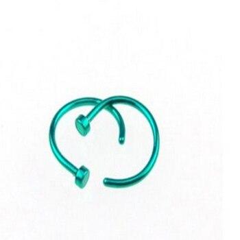 Nuevos 10 Uds. Piercing médico de titanio plata aros para la nariz Clip en la oreja labio ombligo cuerpo Piercing falso Piercing joyería mujeres Pircings 2020