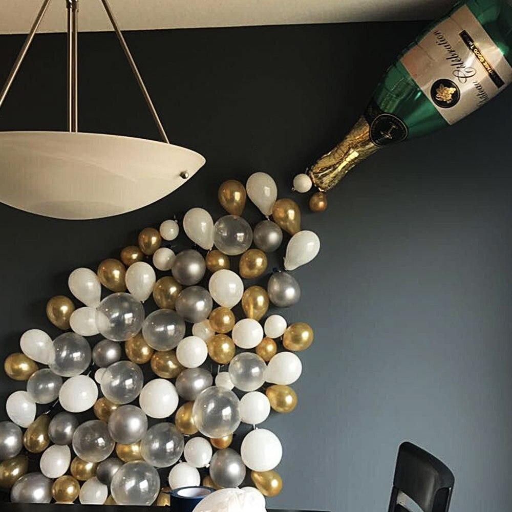 Champagne Bottle Aluminum Balloon Adult Happy Birthday Ballon Wedding Birthday Baloon Bride to Be Bachelor Party Balon Anniversa